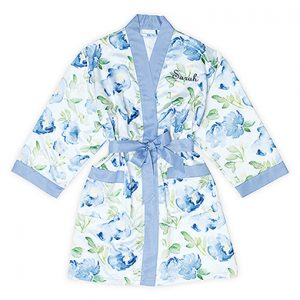 Kimono floral blue gepersonaliseerd