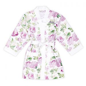 Kimono watercolor floral lavendel on white gepersonaliseerd