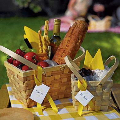 Bloemenmandje 'Picknick'