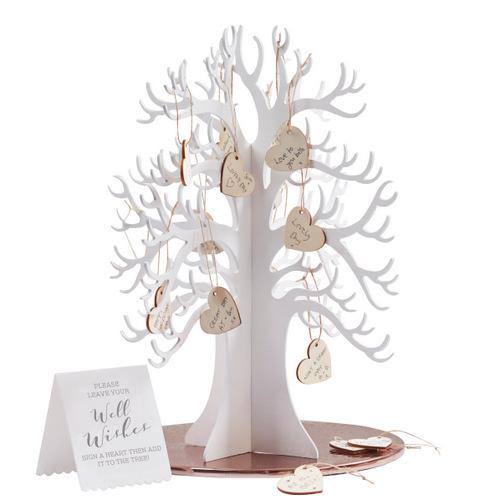 Gastenboek houten wensboom