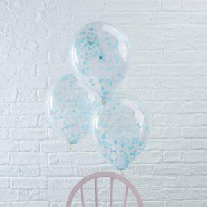 Confetti ballonnen blauw (5ST)