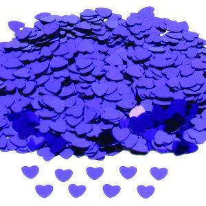 Hartjes confetti paars