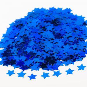 Sterretjes confetti blauw