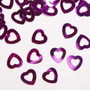 'Hollow Heart' confetti fuchsia
