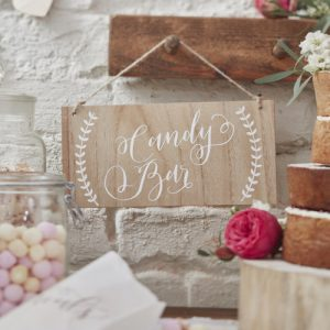 'Candy Bar' houten bordje boho