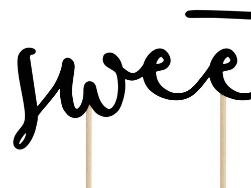 cake-topper-oh-so-sweet-zwart