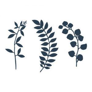 Decoratie 'Leaves' navy blue (9ST)7
