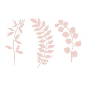 Decoratie 'Leaves' oud roze (9ST)6