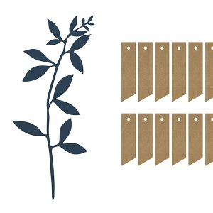 Decoratiepakket 'Leaves & Labels' navy blue
