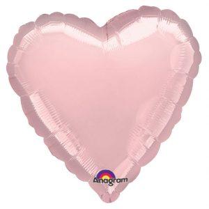 Folieballon hart 'Blush'