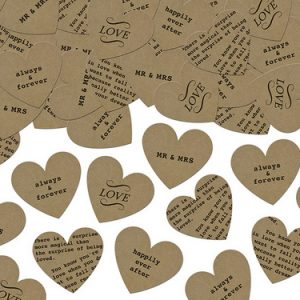 Confetti 'Kraft Newspaper Hearts'