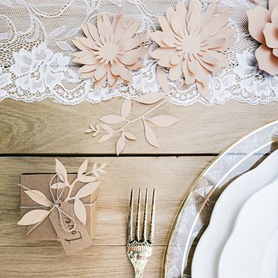 DIY decoratiebloem oud roze small (3ST)