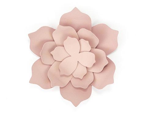 DIY decoratiebloem oud roze large (3ST)