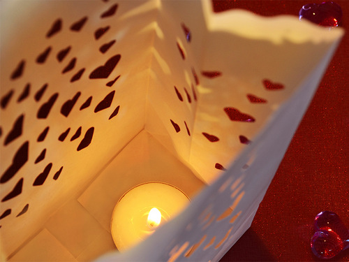 Candle bags small 'Heart Decor'