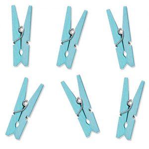 Houten knijpers baby blauw (10ST)