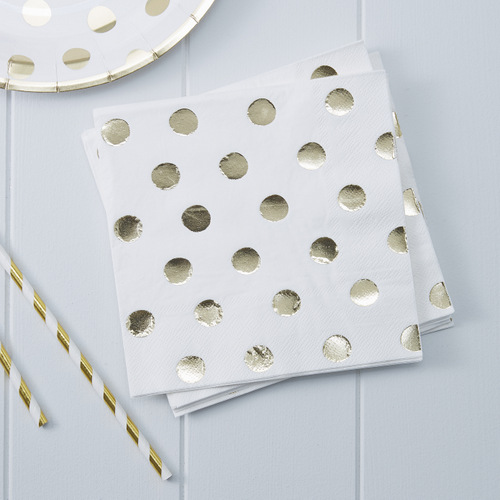 servetten-gold-dot
