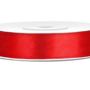 Satijnlint rood 12mm