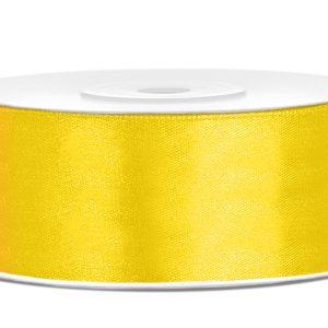 satijnlint 25mm geel