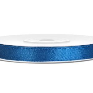 Satijnlint 6mm blauw