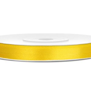 satijnlint 6mm geel