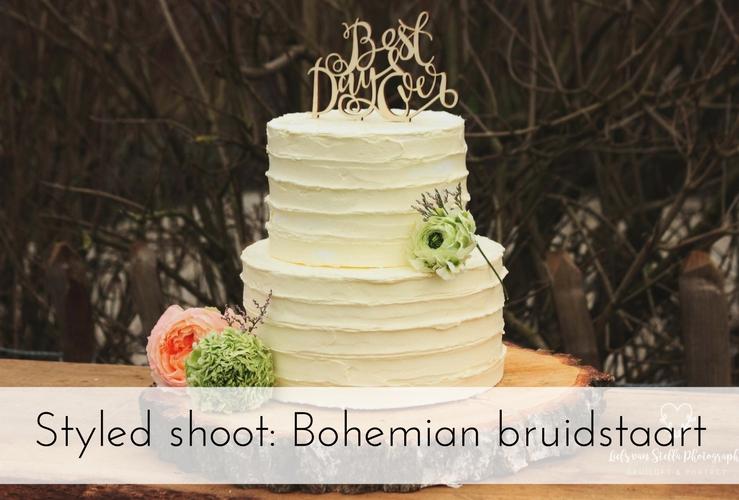 Styled shoot: Bohemian bruidstaart