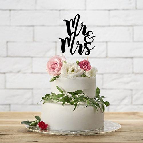 bruiloft-decoratie-cake-topper-mr-mrs-zwart