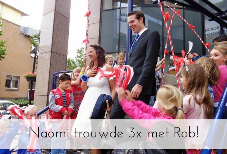 BIJZONDERE BRUILOFT | Naomi trouwde 3x met Rob!