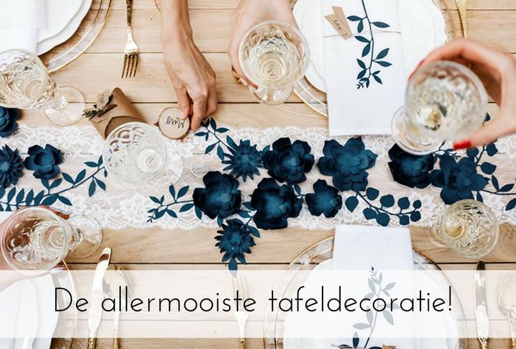 De mooiste tafeldecoratie voor jullie bruiloft! (5 stappen plan!)