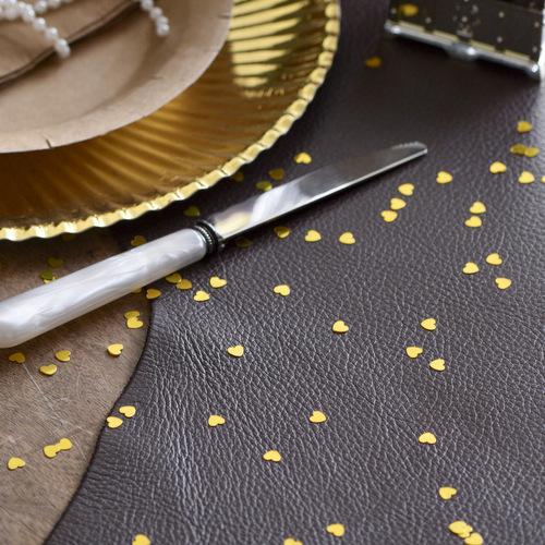 Hartjes glitter goud