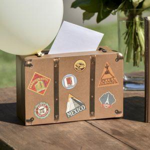 Enveloppendoos 'Travel suit case'