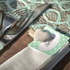 Houten knijpers 'Cotton Heart' naturel (6ST)