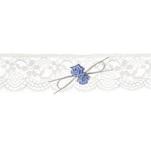 Kouseband 'White Roses'