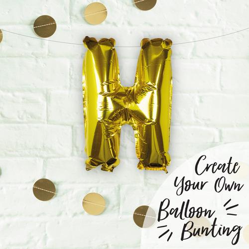 folieballon-goud-letter-h