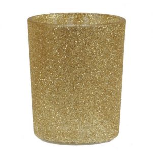 Waxinelichthouder glitter 'Goud'