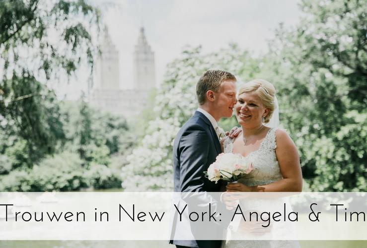 BIJZONDERE BRUILOFT | Angela & Tim zijn getrouwd in New York!