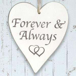 Houten bordje 'Forever and Always'