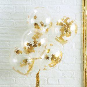 bruiloft-decoratie-confetti-ballonnen-gold-star