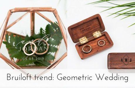 Bruiloft trend 2018: Geometric Wedding