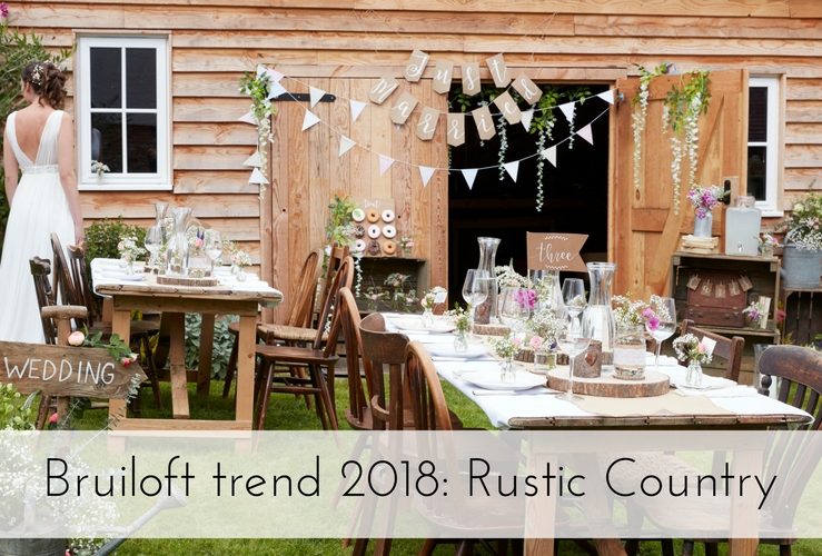 Bruiloft trend 2018: Rustic Country