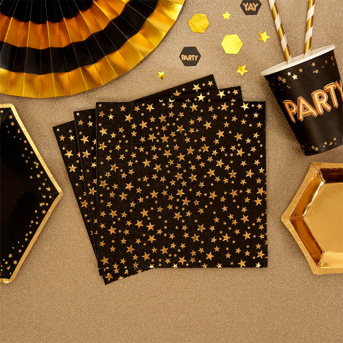 glitz-glamour-servetten-black-gold
