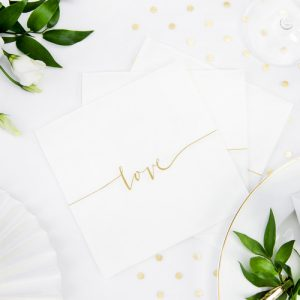 bruiloft-decoratie-servetten-wit-gold-love