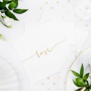 bruiloft-decoratie-servetten-wit-gold-love