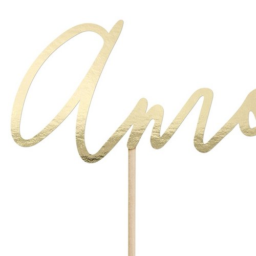cake-topper-amour-goud-2