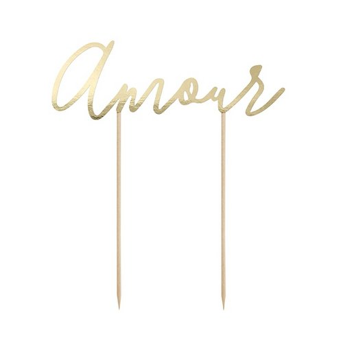 cake-topper-amour-goud