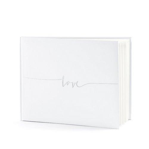 gastenboek-wit-silver-love