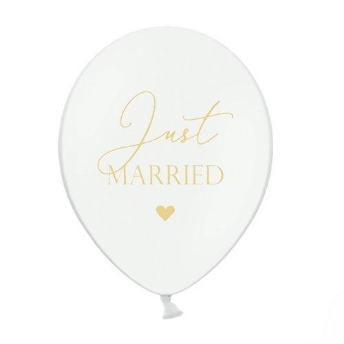 ballonnen-just-married-goud