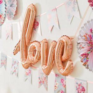 folieballon-love-rosegoud