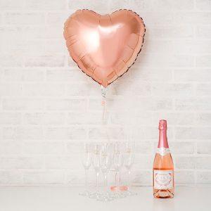 folieballon-rosegouden-hart