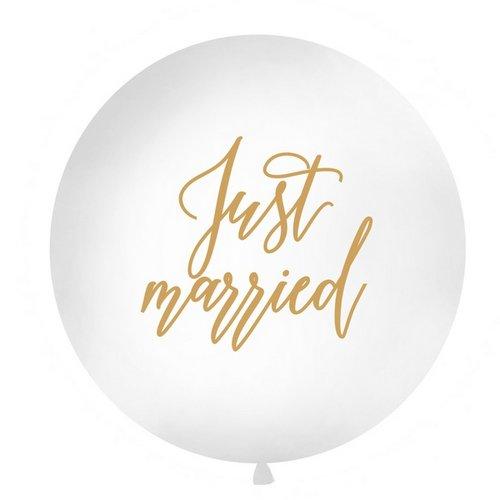 mega-ballon-just-married-goud