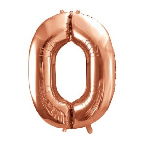 mega-folieballon-rosegoud-cijfer-0